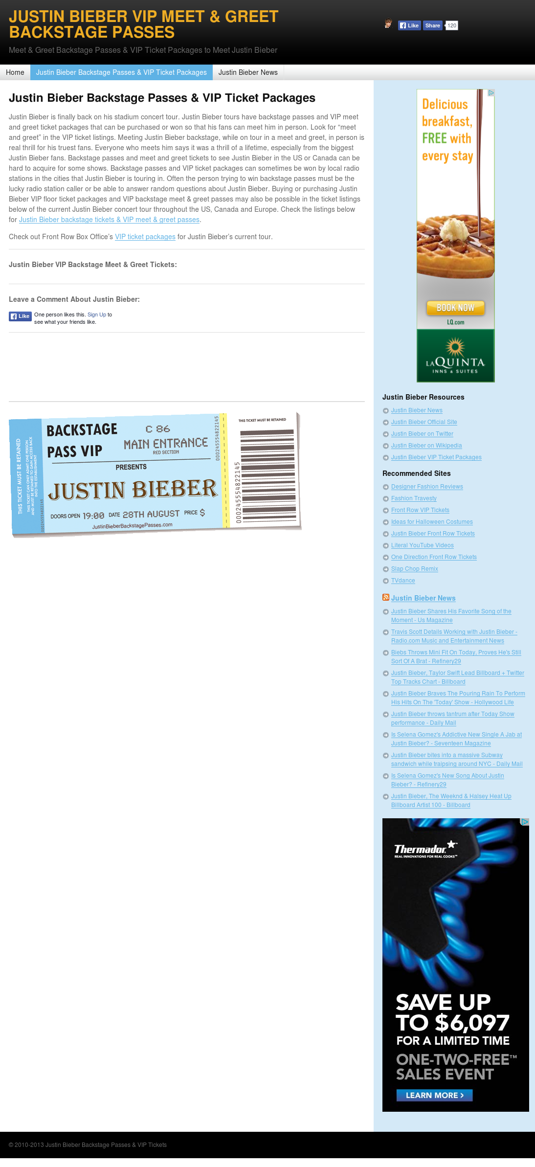 Justin Bieber Backstage Passes Vip Tickets Competitors Revenue