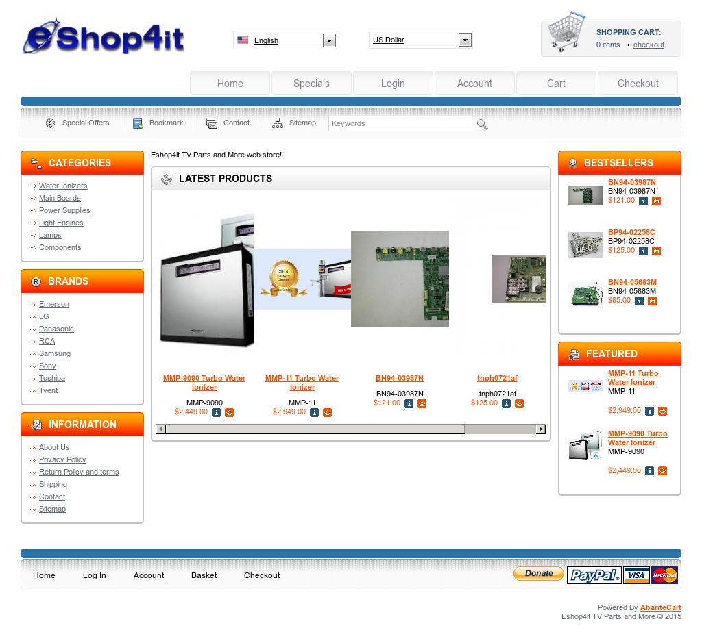 Eshop4it tv parts and more competitors revenue and employees eshop4it tv parts and more website history aloadofball Choice Image