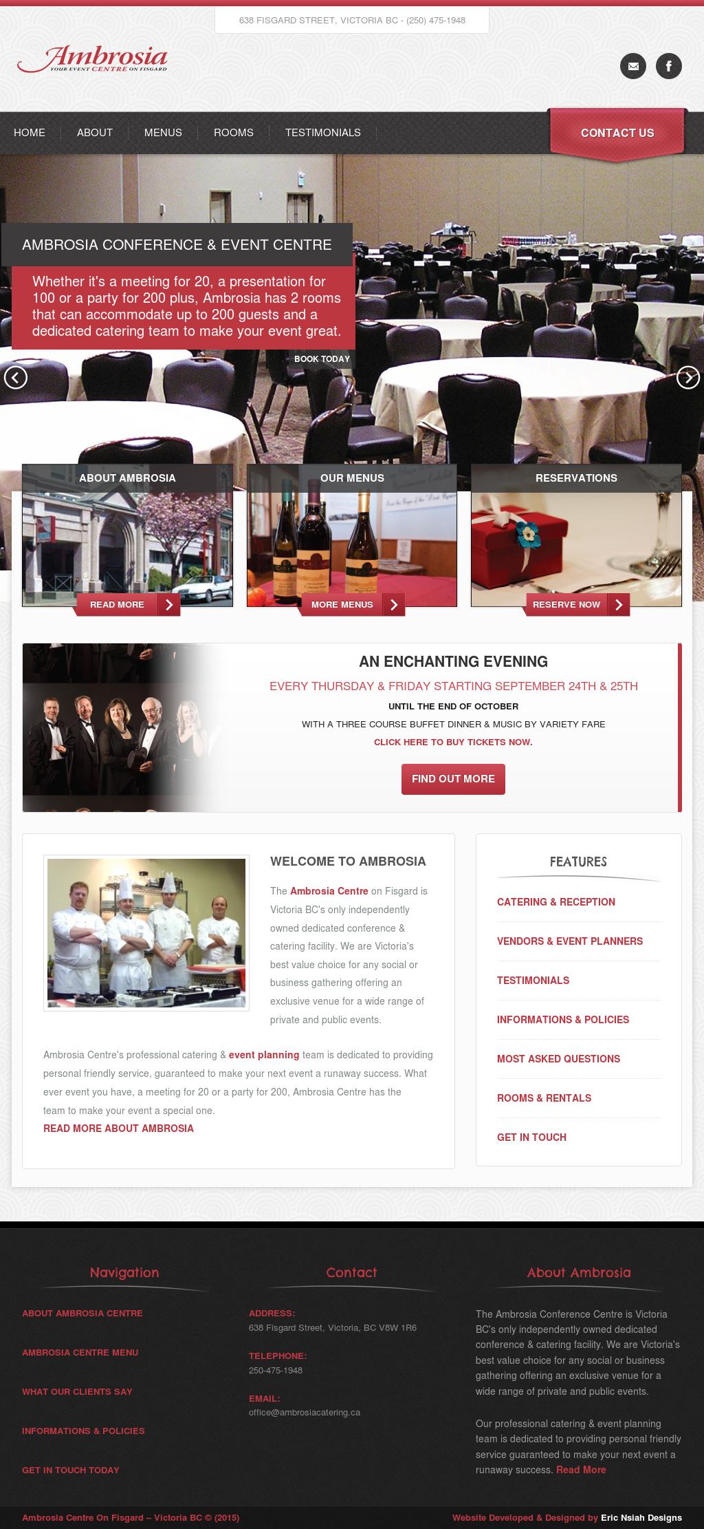 Ambrosia Conference Event Centre Competitors Revenue And Employees