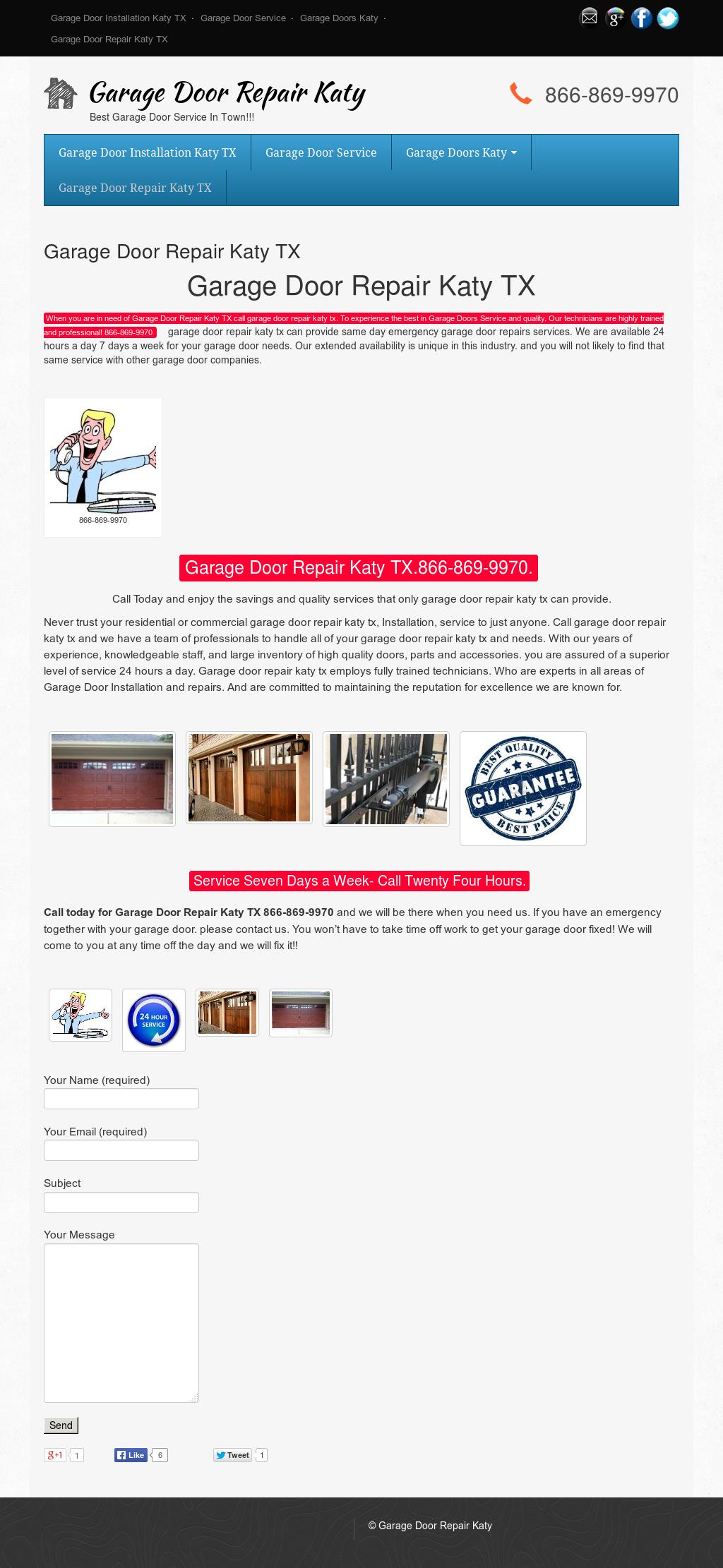 Garage Door Repair Katy Website History