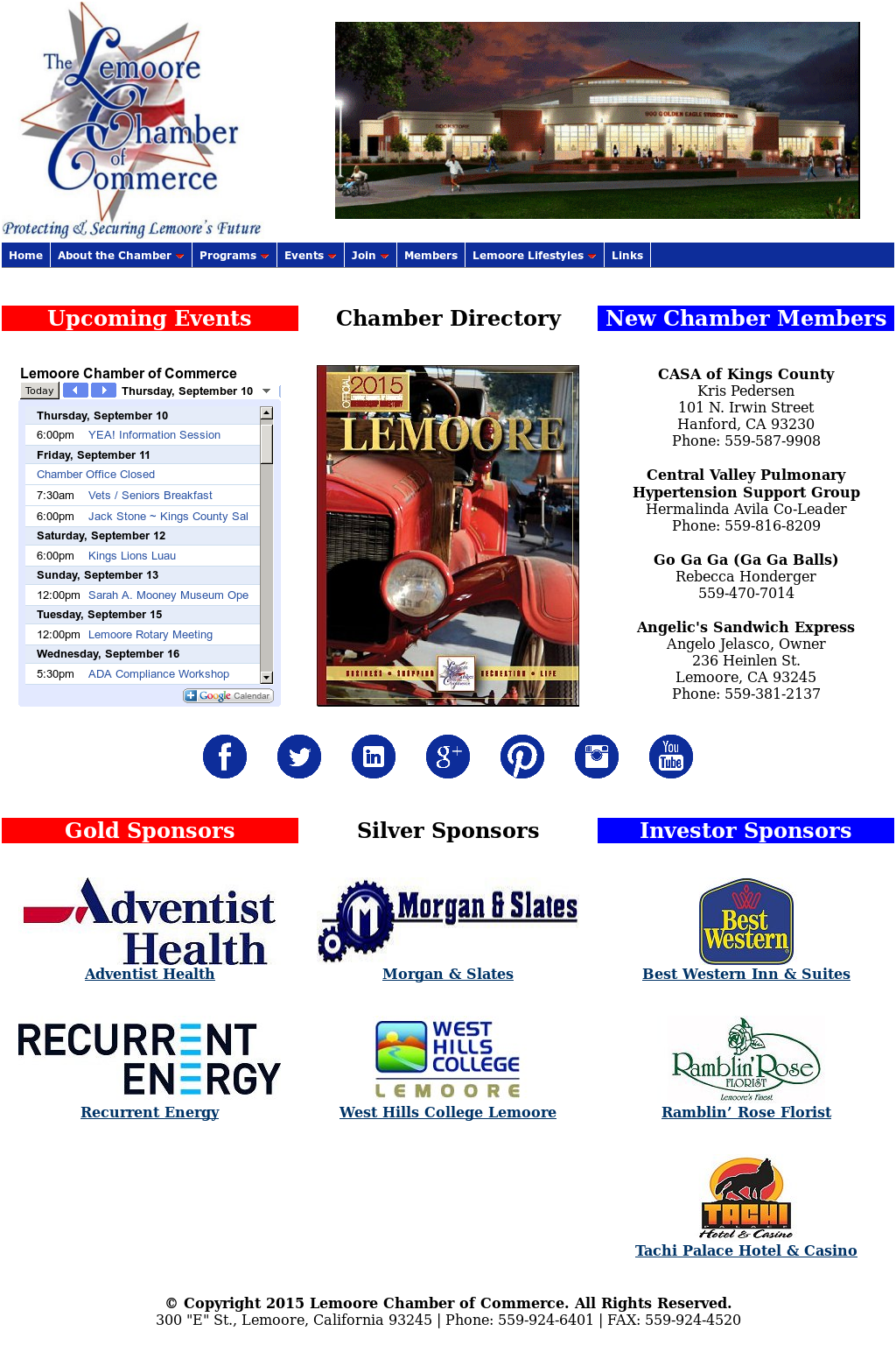 Lemoore Chamber Of Commerce Competitors, Revenue and