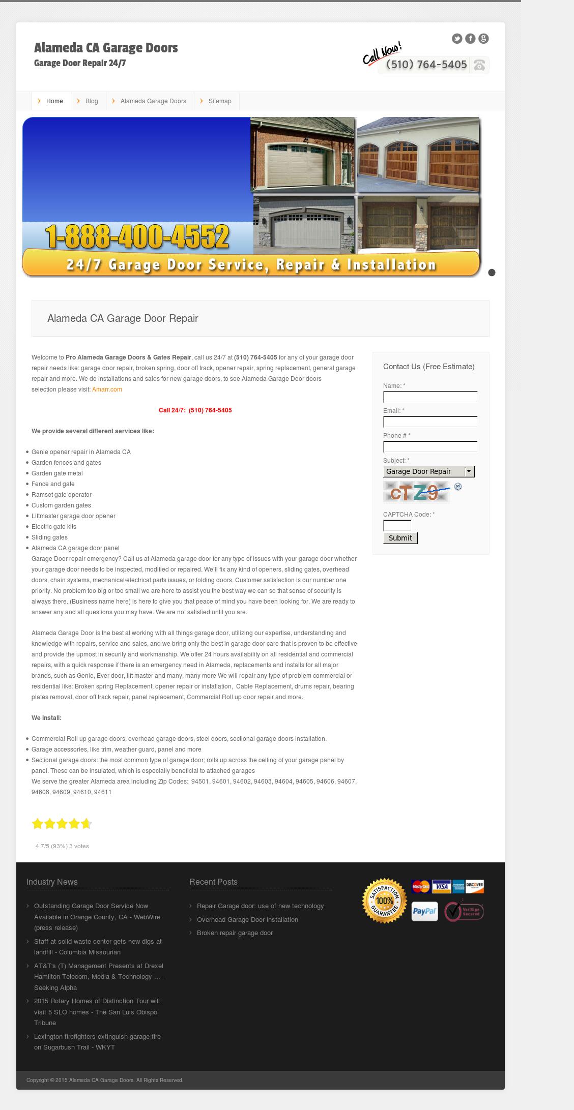 Alameda Ca Garage Doors Competitors Revenue And Employees Owler