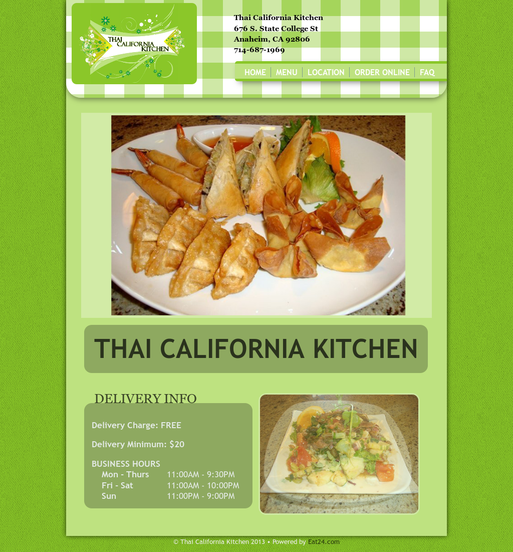 Real Thai Kitchen Santa Cruz Menu