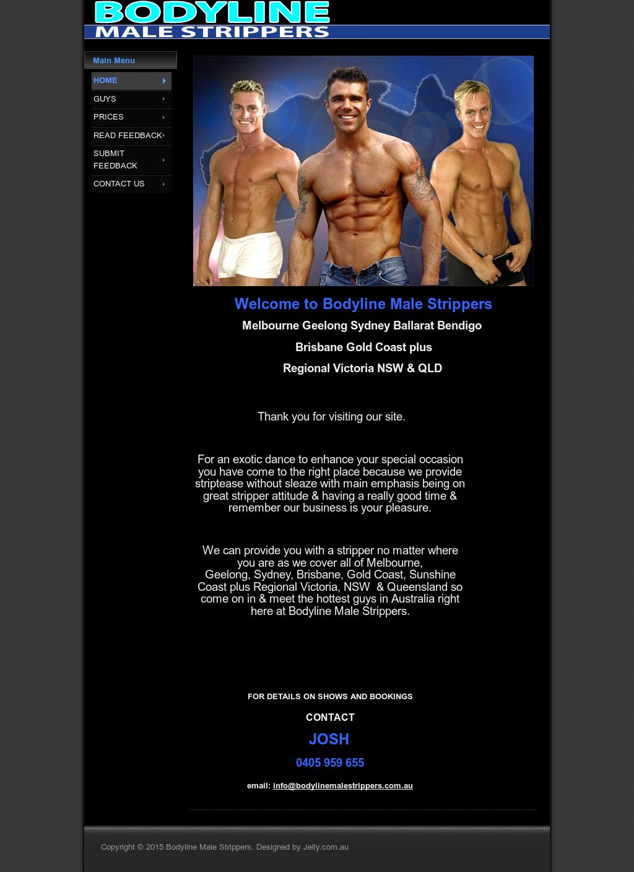 Male stripper website