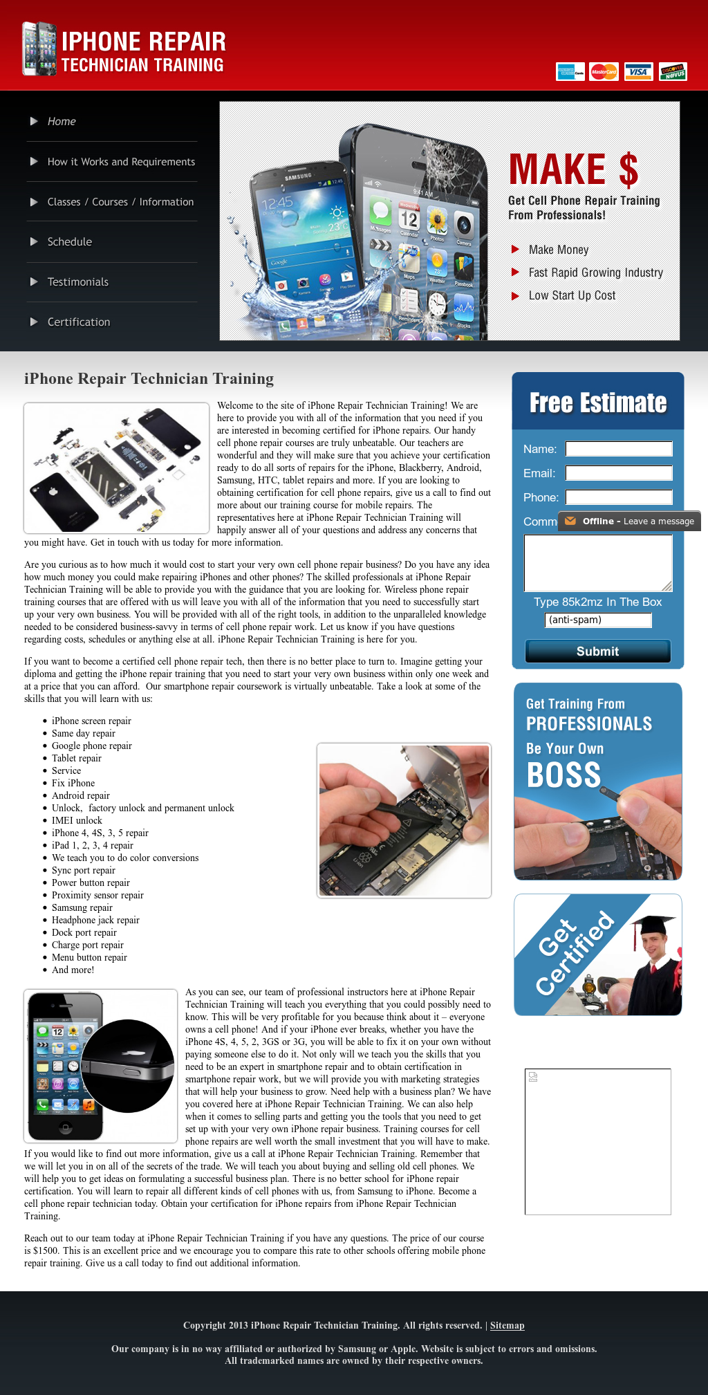Iphone Repair Technician Training Competitors Revenue And Employees