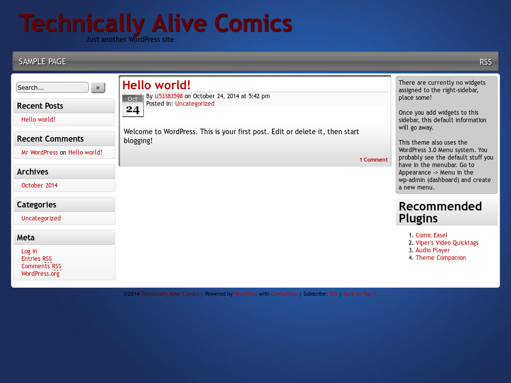 Technically Alive Comics Competitors, Revenue and Employees - Owler
