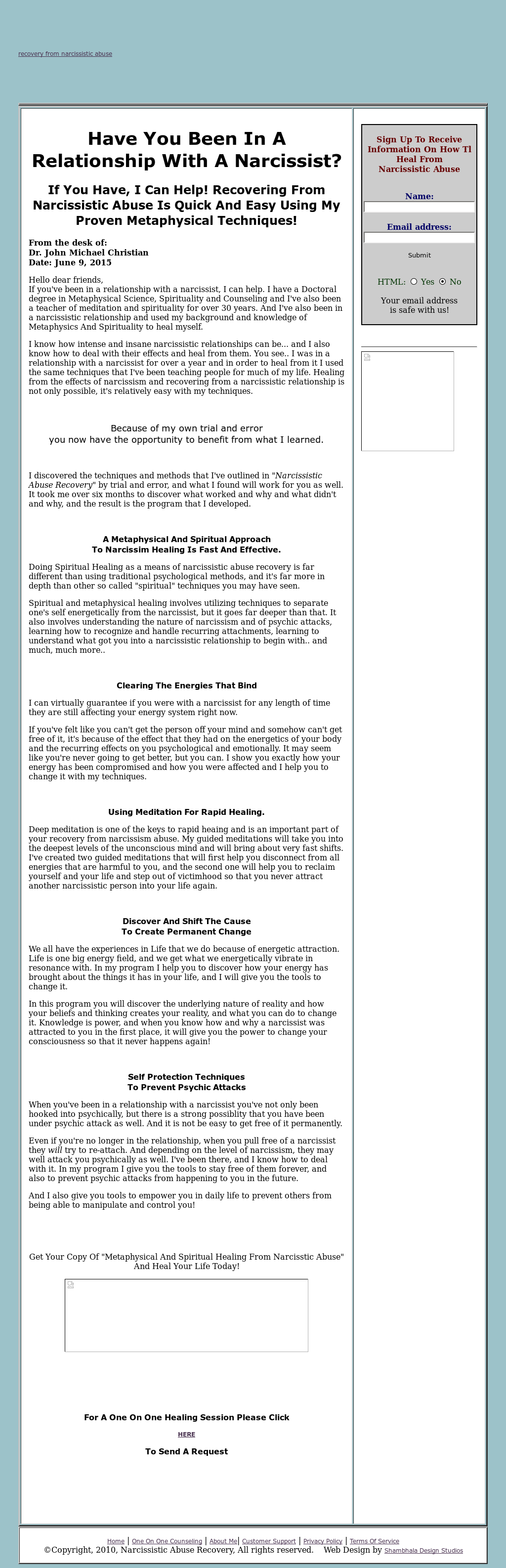 Narcissistic Abuse Recovery Competitors, Revenue and