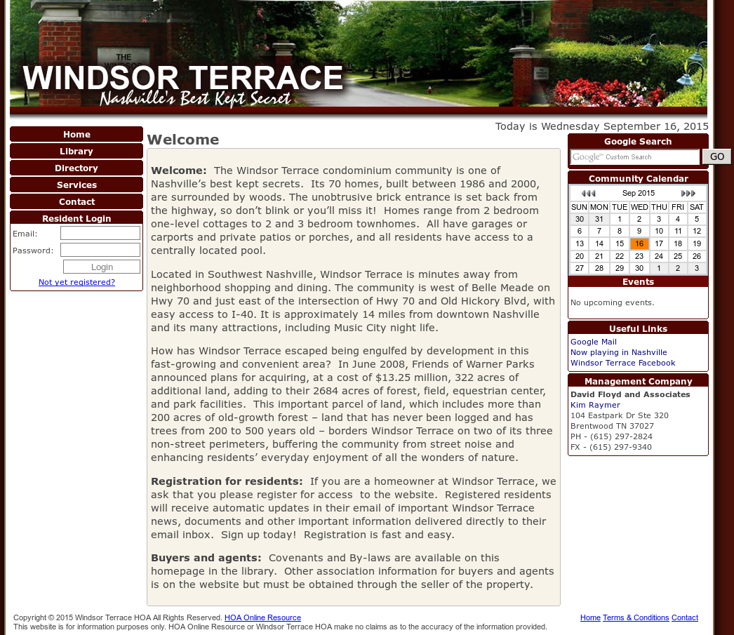 Windsor Terrace Hoa Website History
