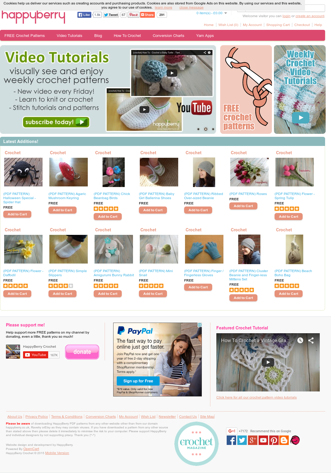 Amigurumi Bunny (Print Version) _ HappyBerry | Crochet | Weaving | 1601x1120