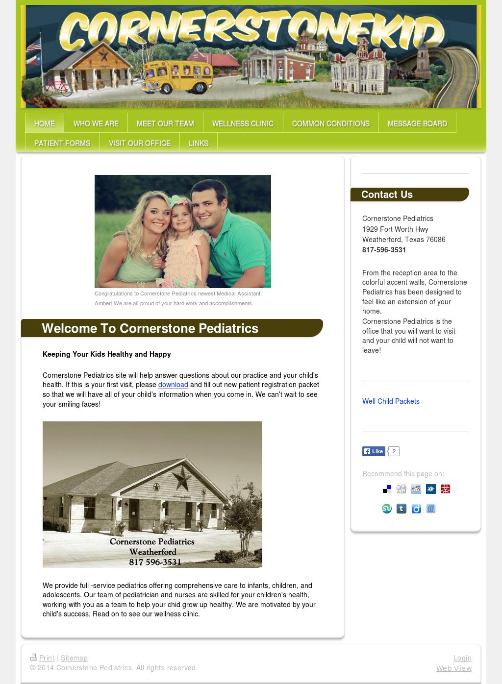 Cornerstone Pediatrics Competitors, Revenue and Employees