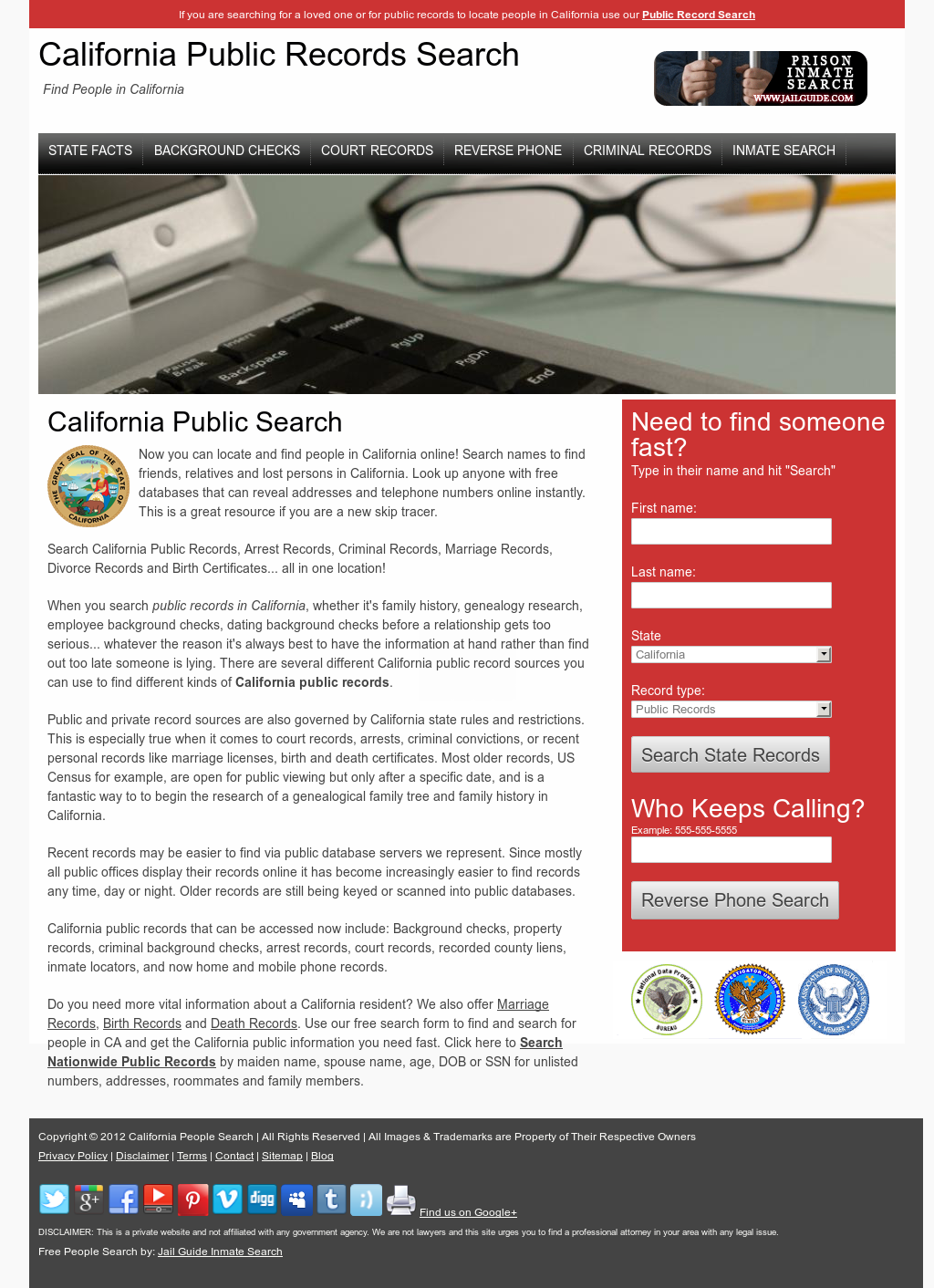 California People Search Competitors, Revenue and Employees - Owler