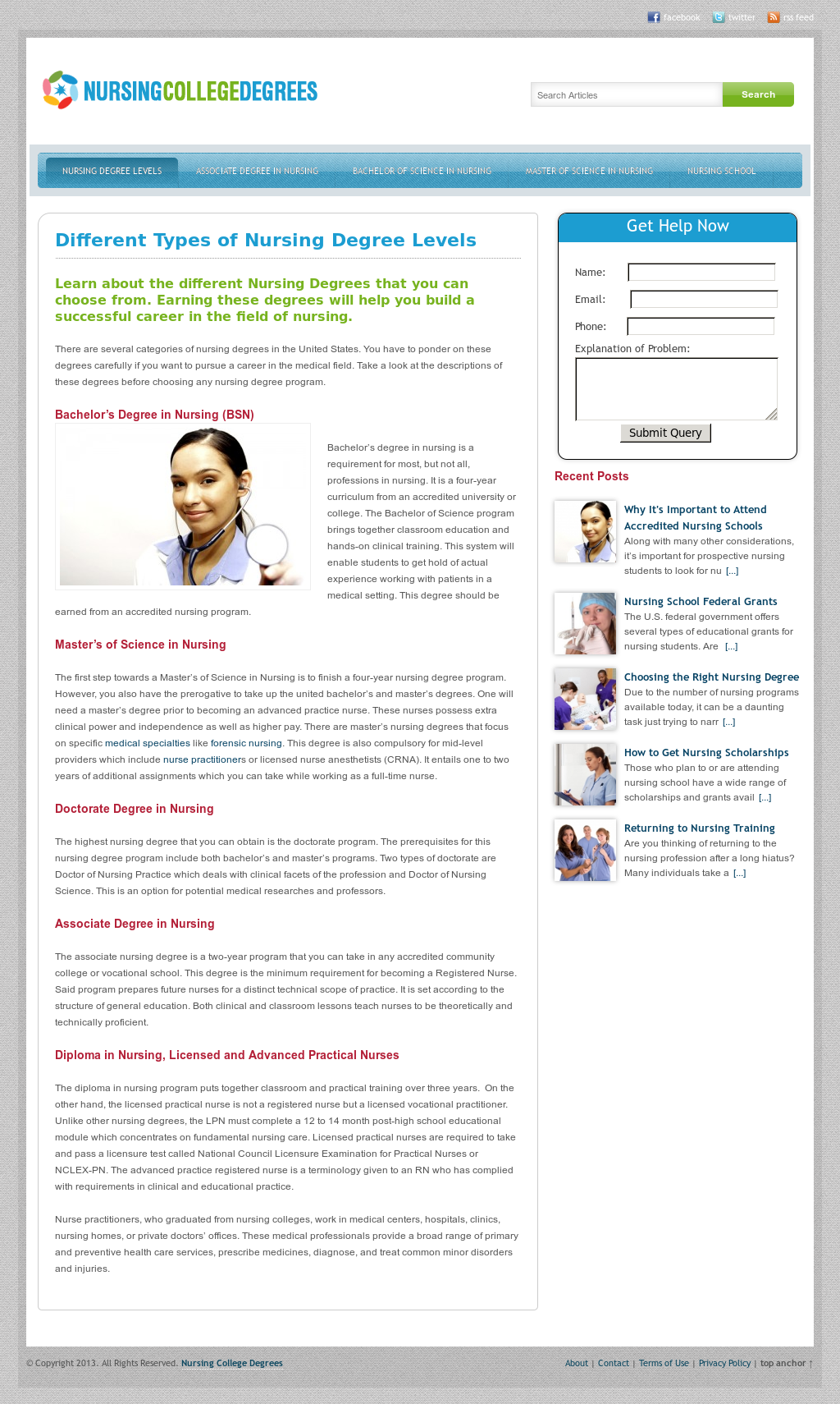 Nursing College Degrees Competitors Revenue And Employees Owler