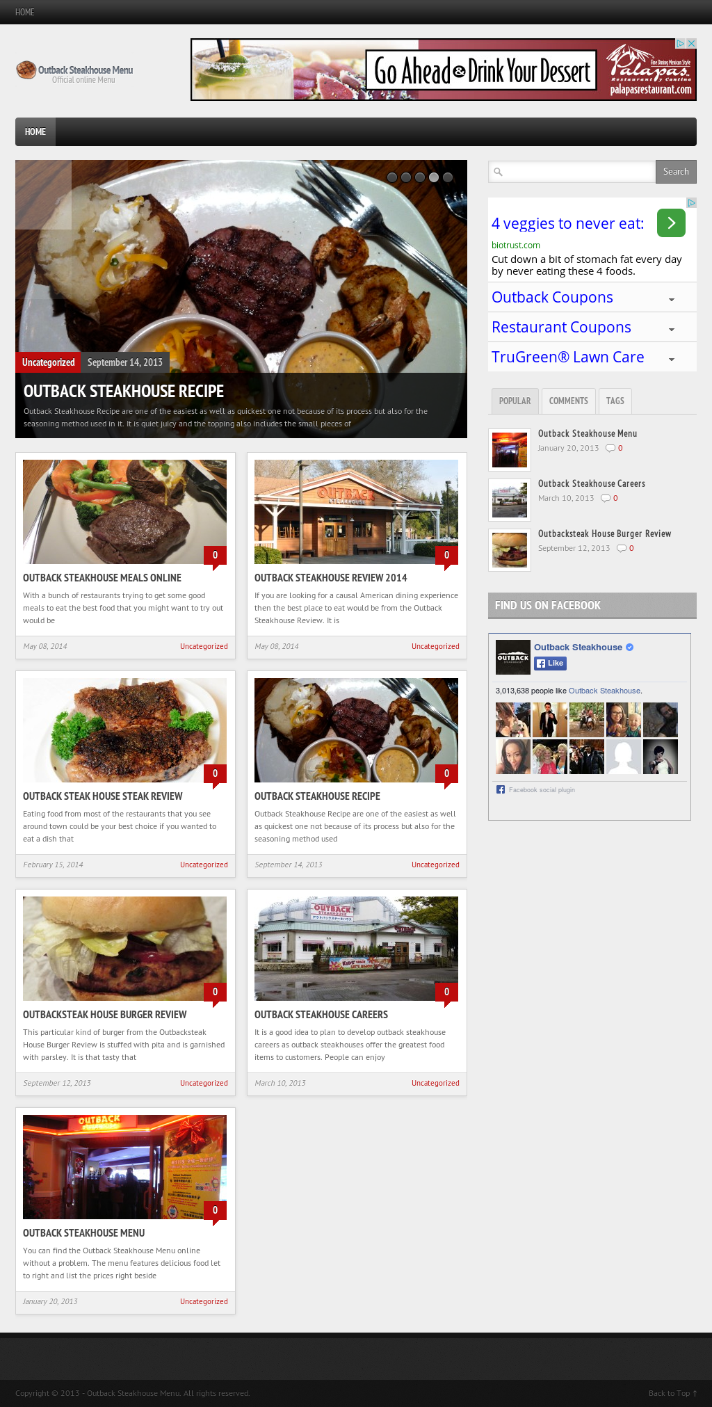 Outback Steakhouse Menu Competitors, Revenue and Employees - Owler ...