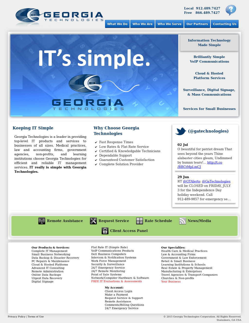 Georgia Technologies Competitors, Revenue and Employees - Owler