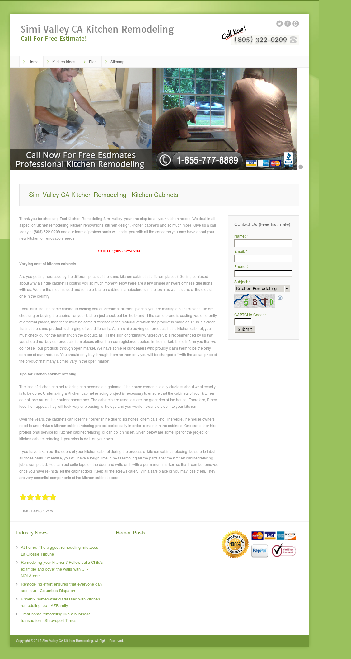 Simi Valley Ca Kitchen Remodeling Website History