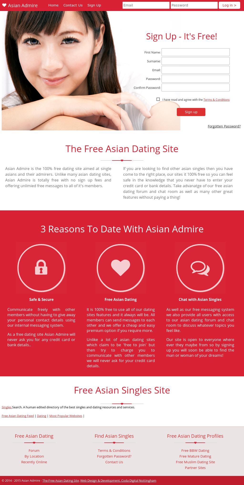 Asian Admire website history