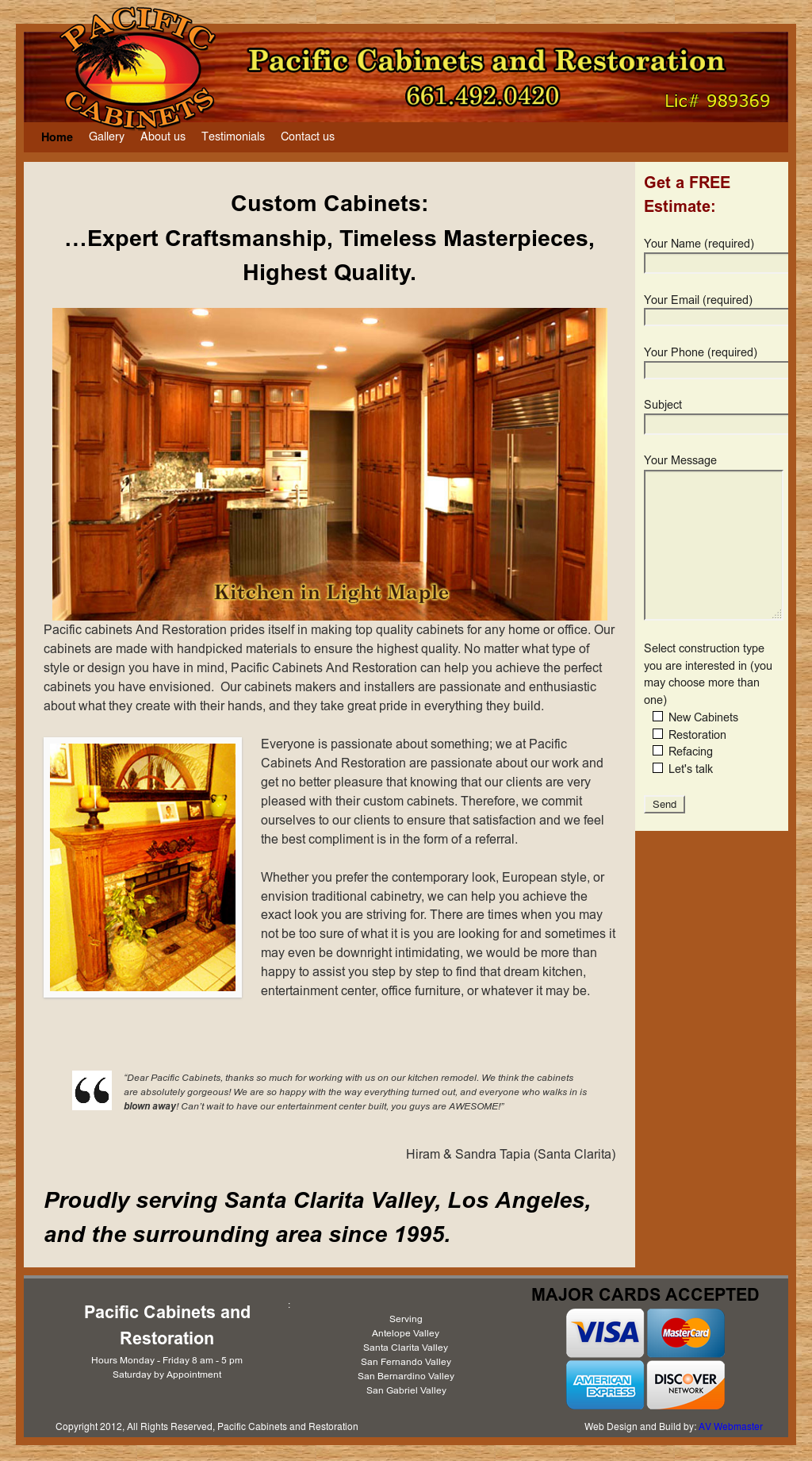 Pacific Cabinets And Restoration Competitors, Revenue And Employees   Owler  Company Profile