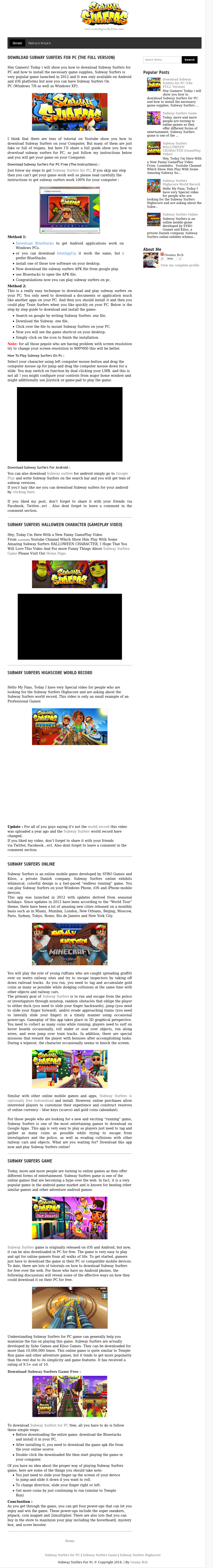 Subway Surfers For Pc Competitors, Revenue and Employees - Owler