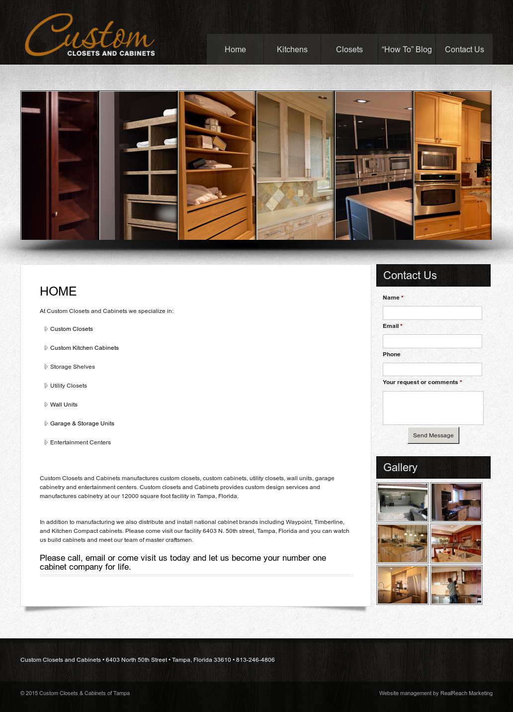 Custom Closets U0026 Cabinets Of Tampa Website History