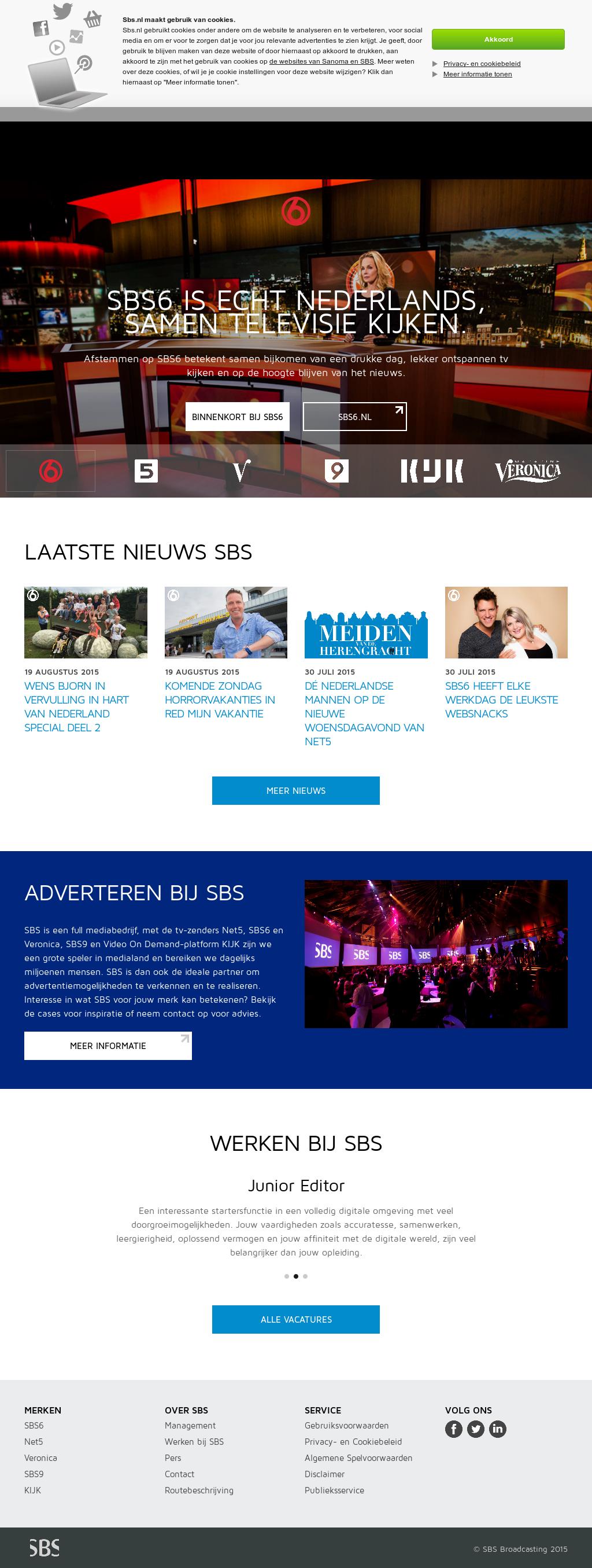 online sbs6 kijken live gratis