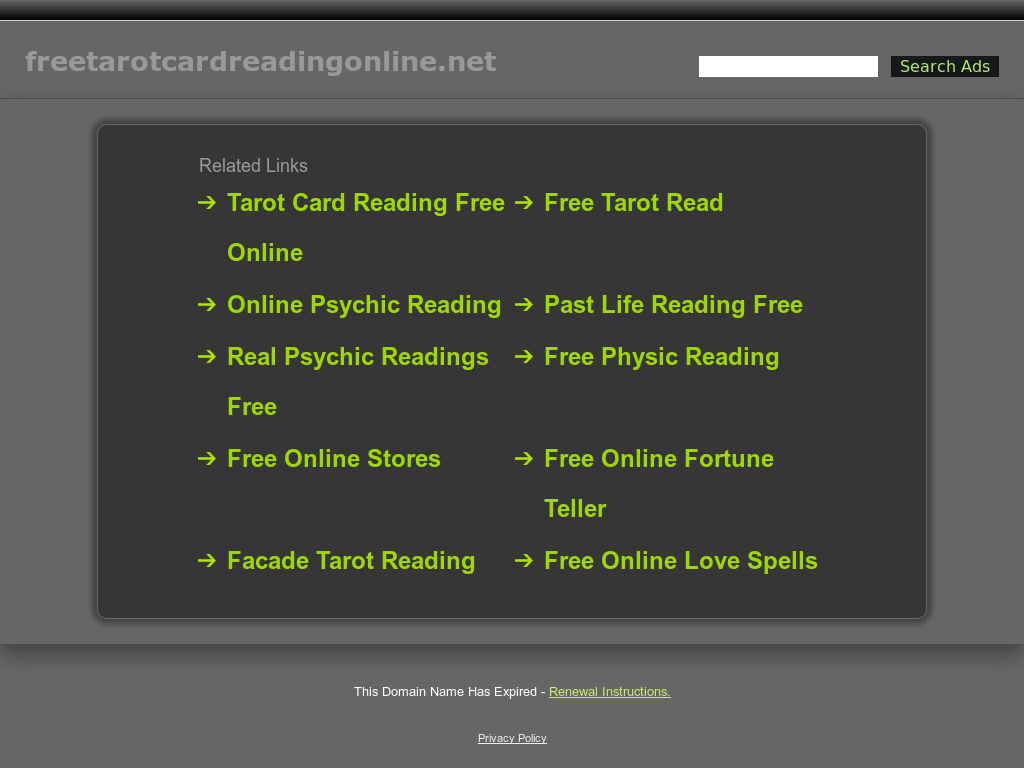 All Right Protected On Content Of Free Tarot Card Reading