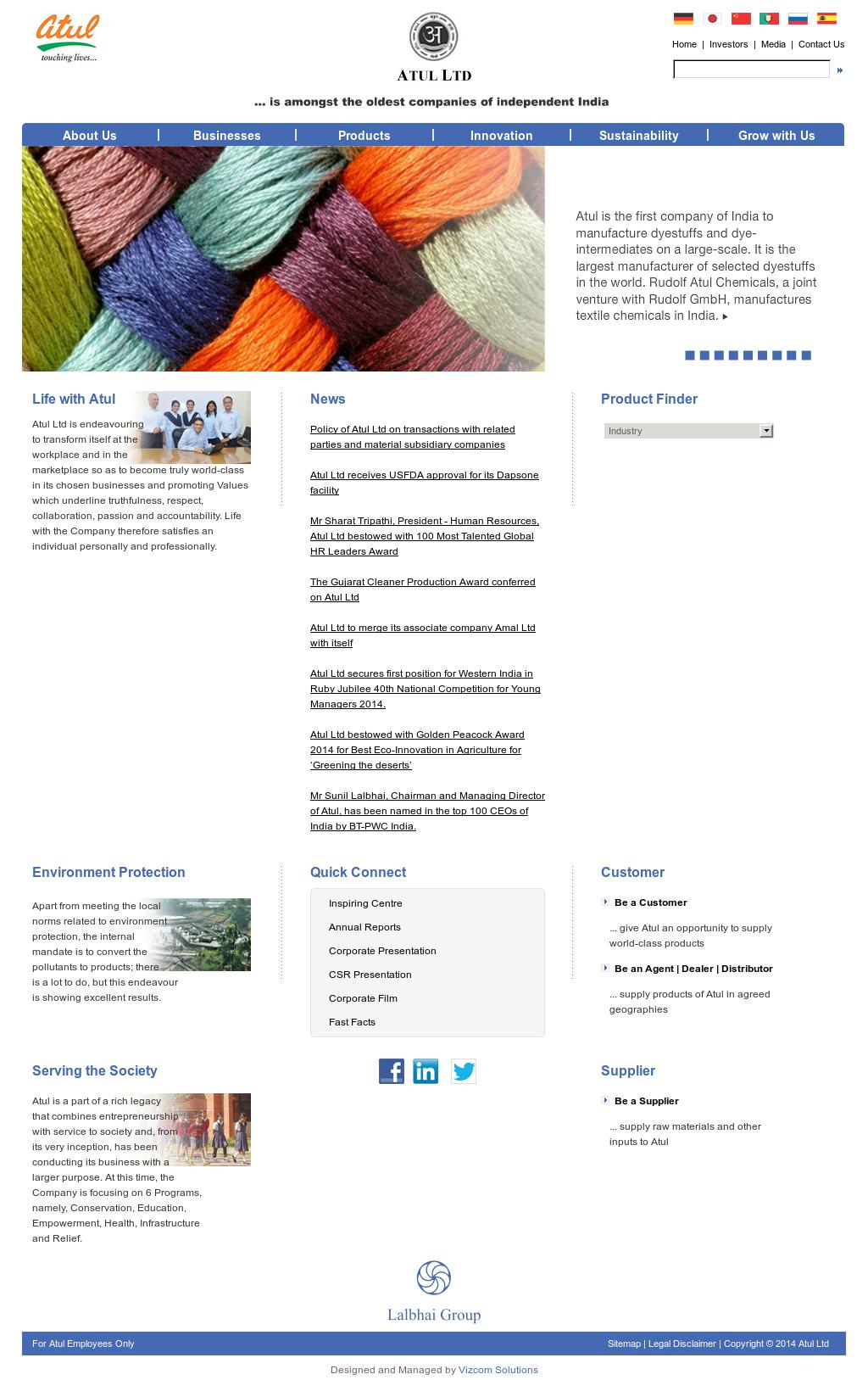 Atul Competitors, Revenue and Employees - Owler Company Profile