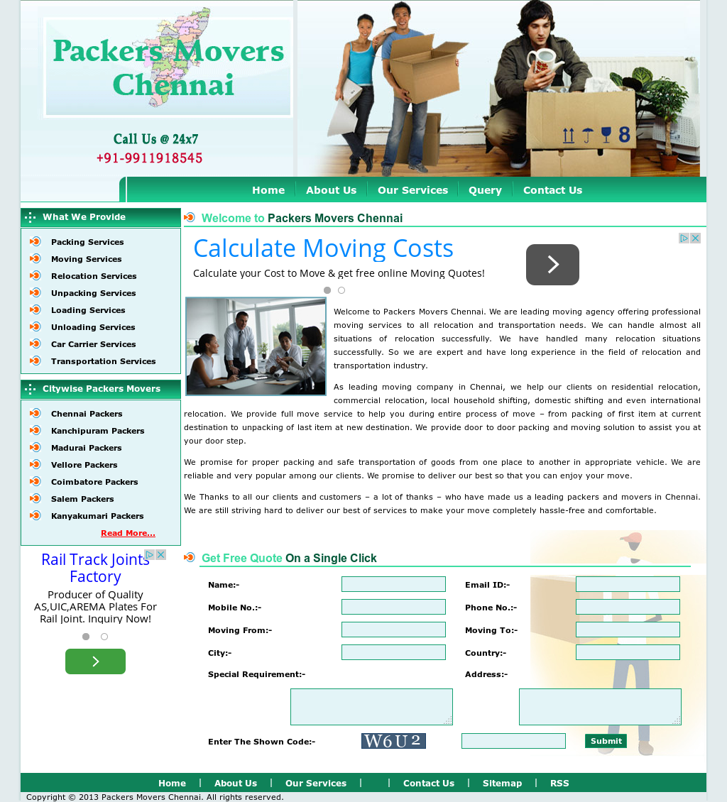 Packers Movers Chennai Competitors, Revenue and Employees - Owler