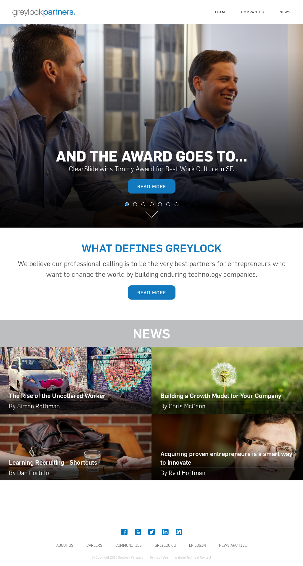 Greylock Partners's Latest News, Blogs, Press Releases & Videos