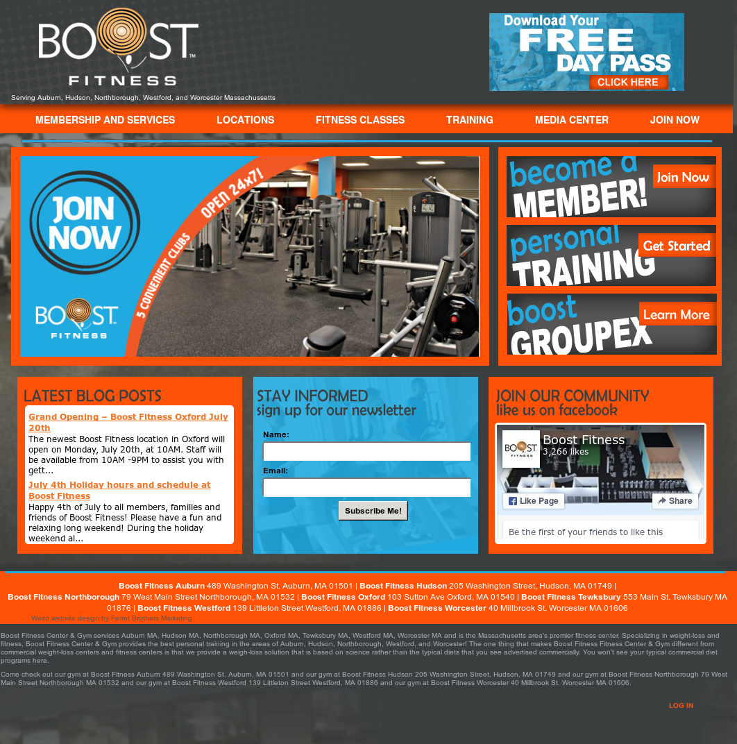 ed8aab82fcdf Boost Fitness Center   Gym services Competitors
