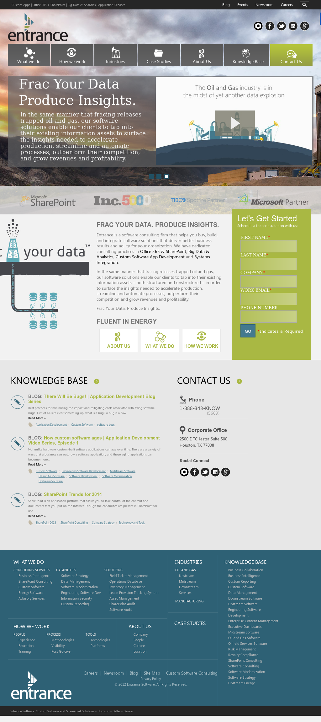 Owler Reports - Entrance Blog Spotfire Dashboard Demo of a