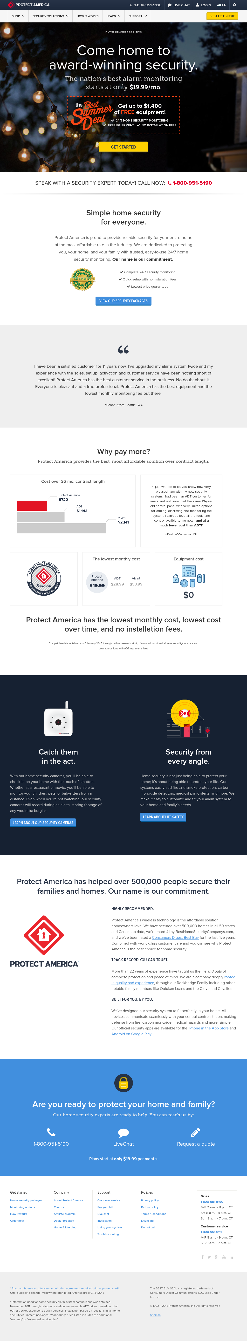 Protect America Compeors Revenue And Employees Owler Company Profile