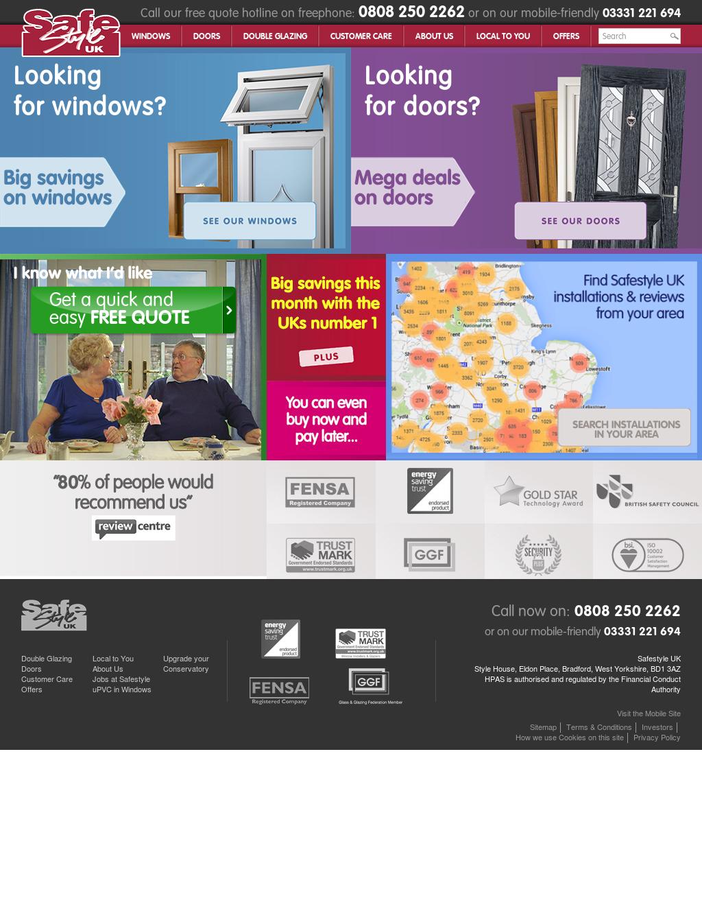 Safestyle UK website history  sc 1 st  Owler & Safestyle UK Competitors Revenue and Employees - Owler Company Profile