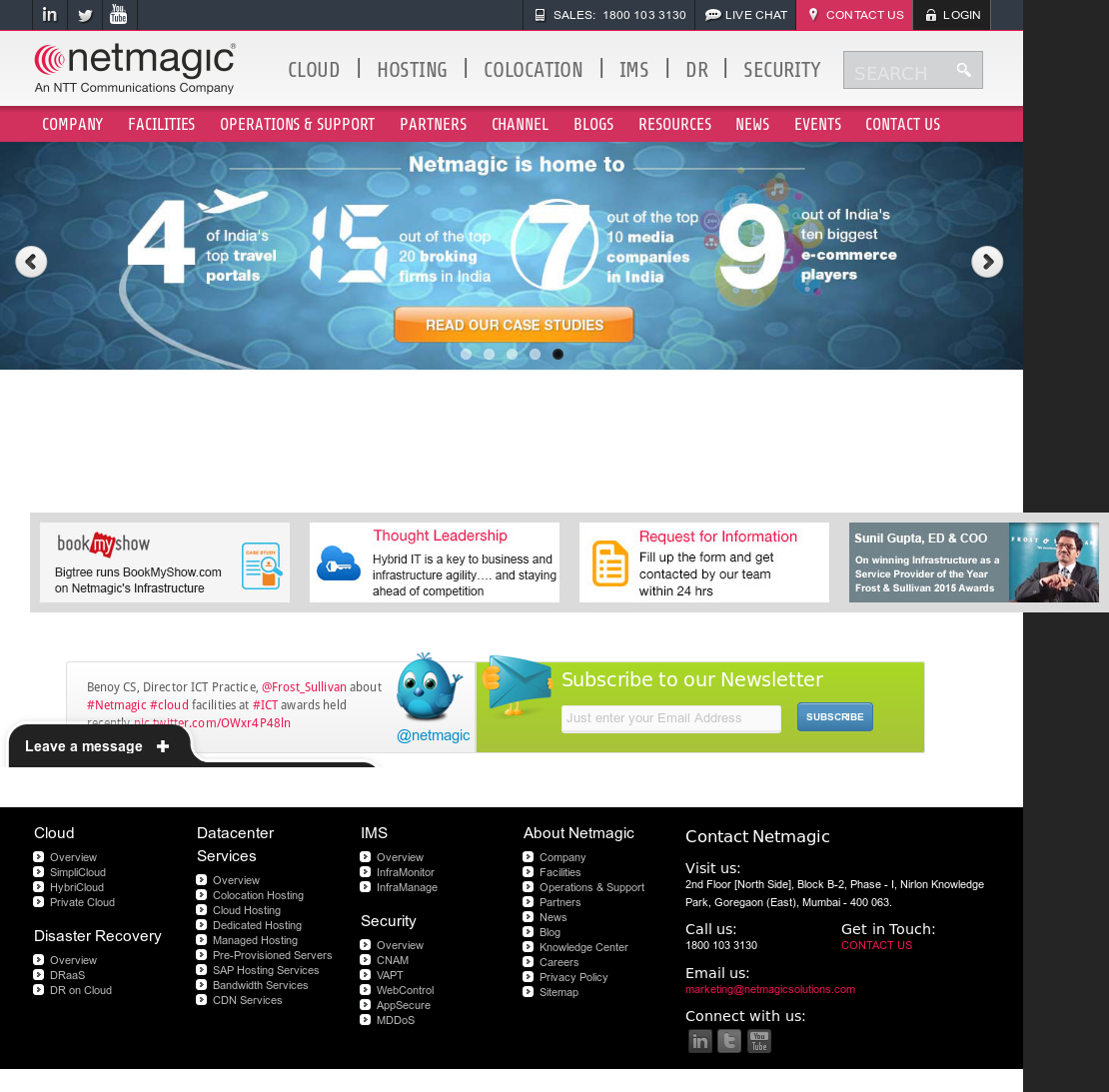 Netmagic Solutions Competitors, Revenue and Employees