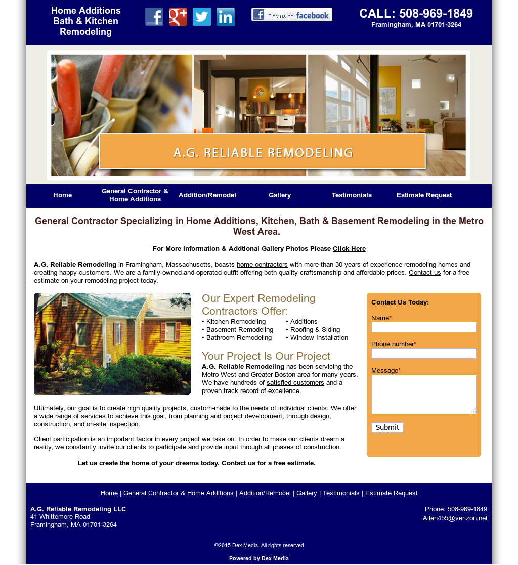 A g reliable remodeling competitors revenue and for Reliable remodeling
