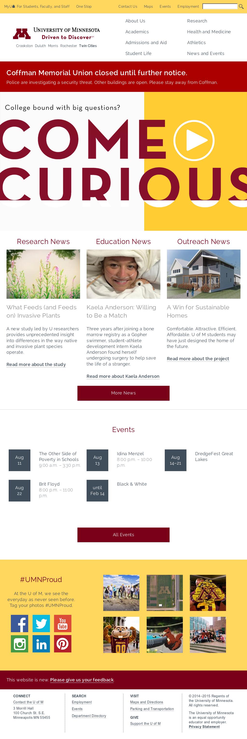 Umn Academic Calendar.University Of Minnesota Competitors Revenue And Employees Owler