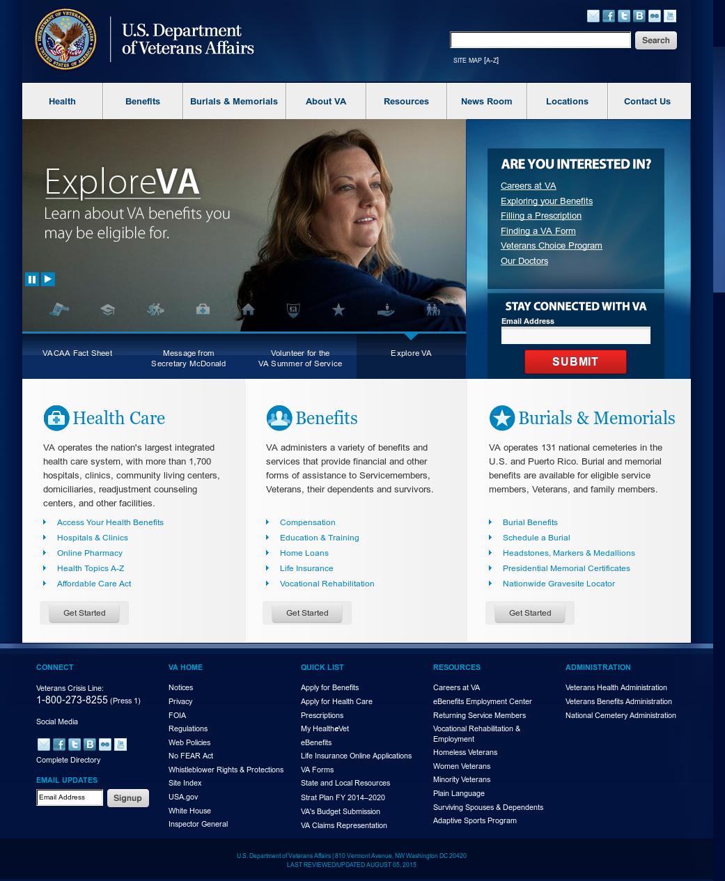 U S  Department of Veterans Affairs Competitors, Revenue and