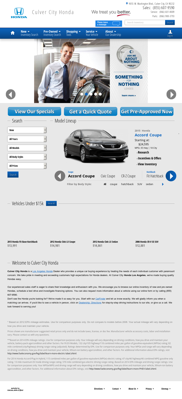 Culver City Honda Service >> Culver City Honda Competitors Revenue And Employees Owler
