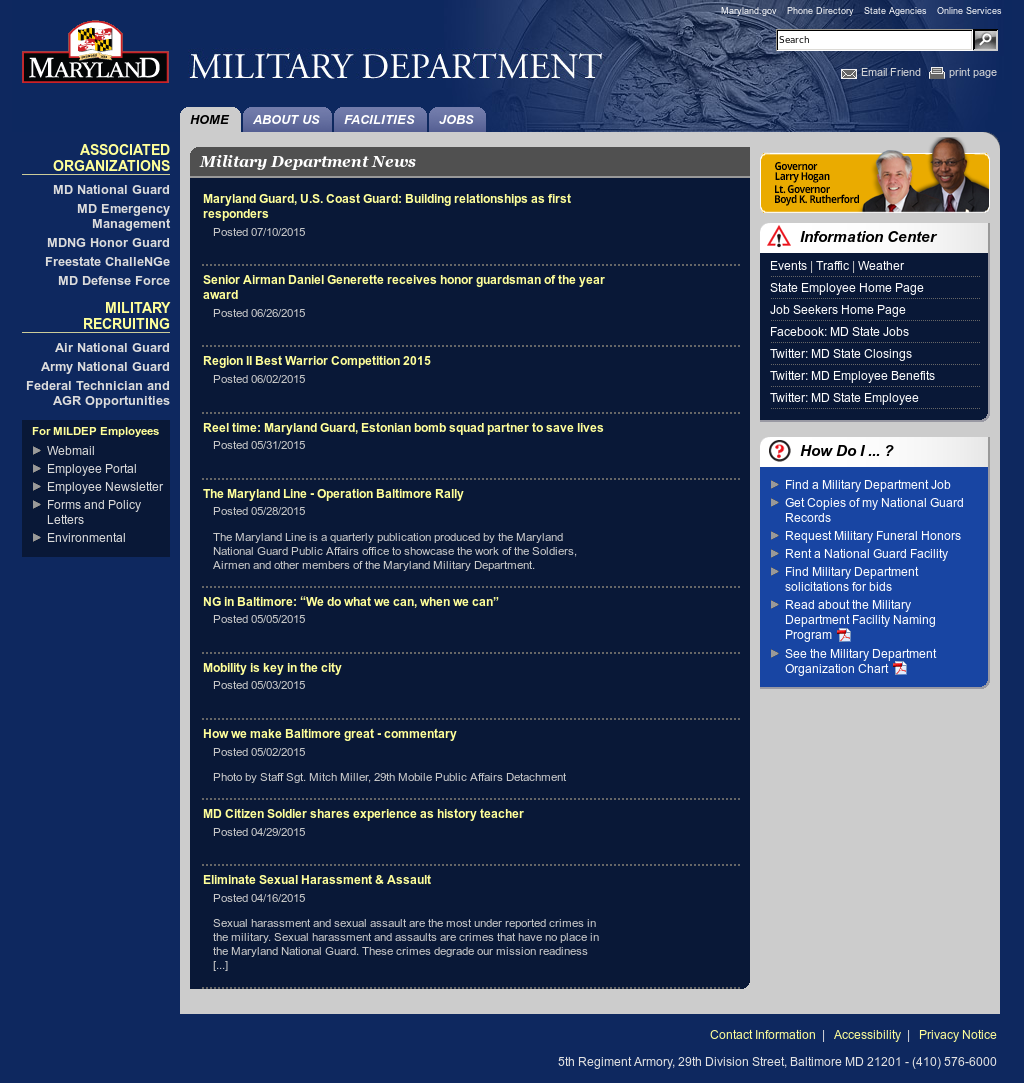 Maryland Military Department Competitors, Revenue and