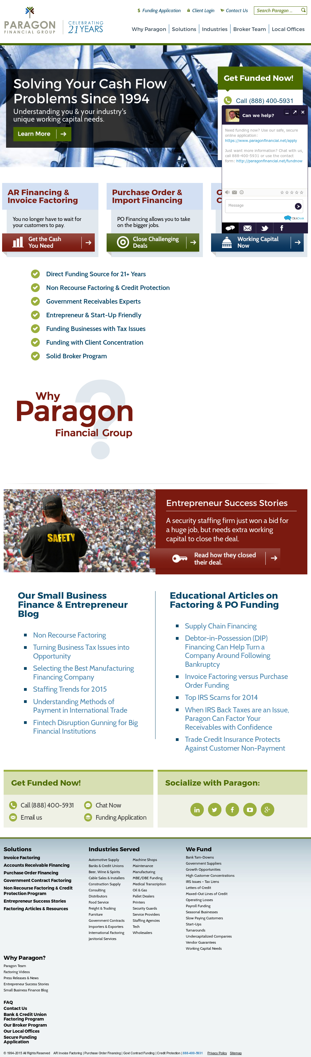 Paragon Financial Competitors Revenue And Employees Owler Company - Government invoice factoring