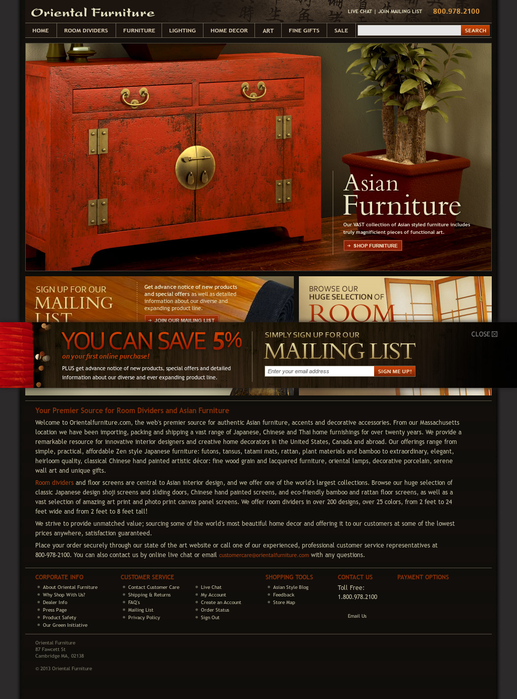 Orientalfurniture Compeors Revenue And Employees Owler Company Profile