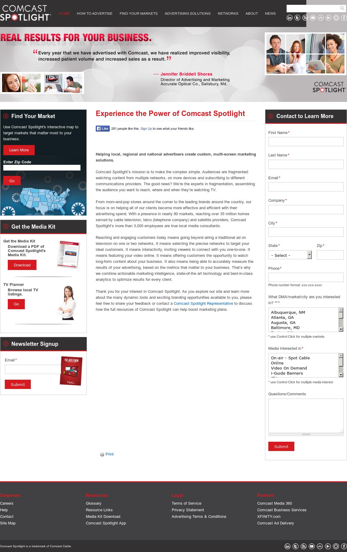 Comcast Spotlight Competitors, Revenue and Employees - Owler