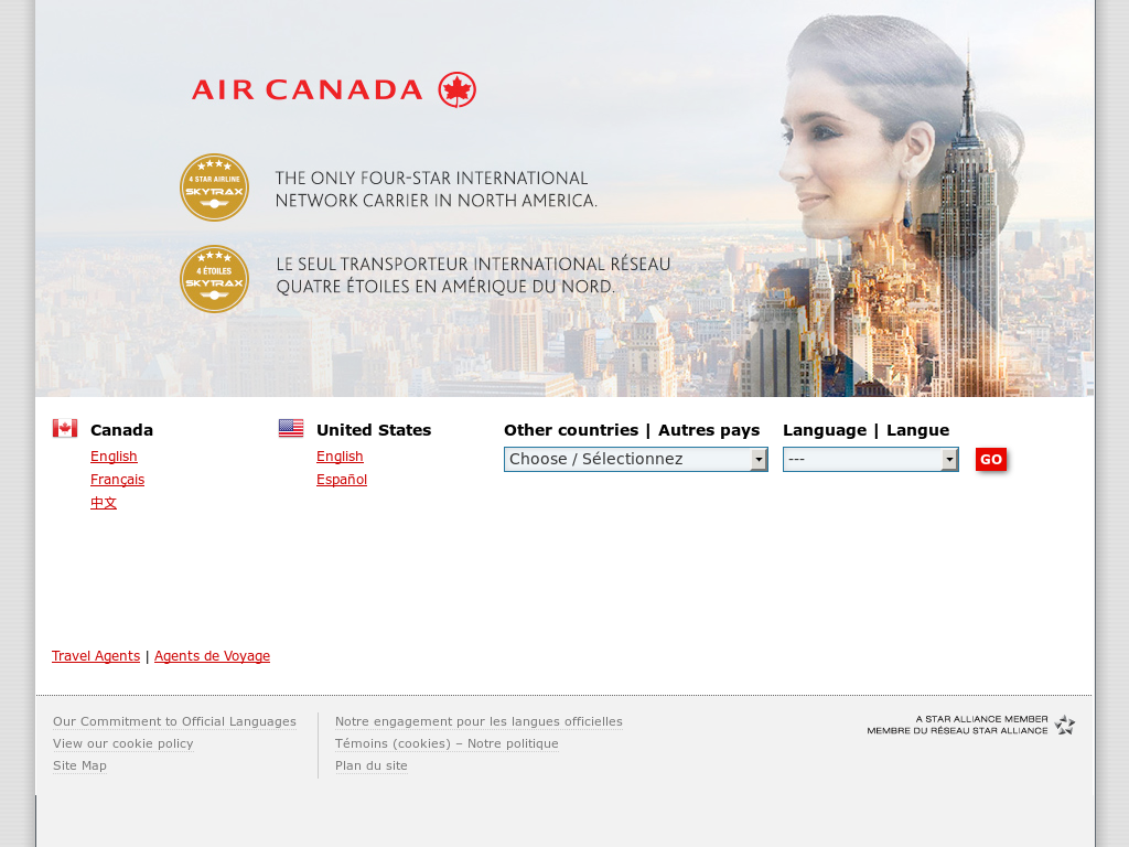 overview of the company air canada Overview air canada is the national carrier of canada, founded in the year 1937 the airlines connects to more than 190 destinations from its main hubs at calgary, montreal, toronto and vancouver.