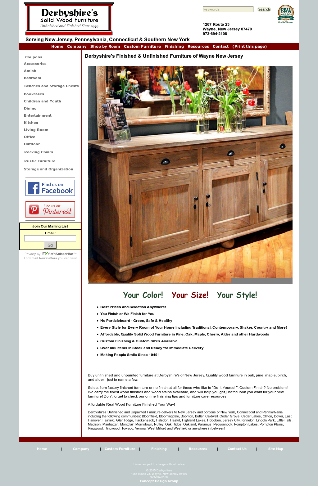 Derbyshire S Unpainted Furniture Compeors Revenue And