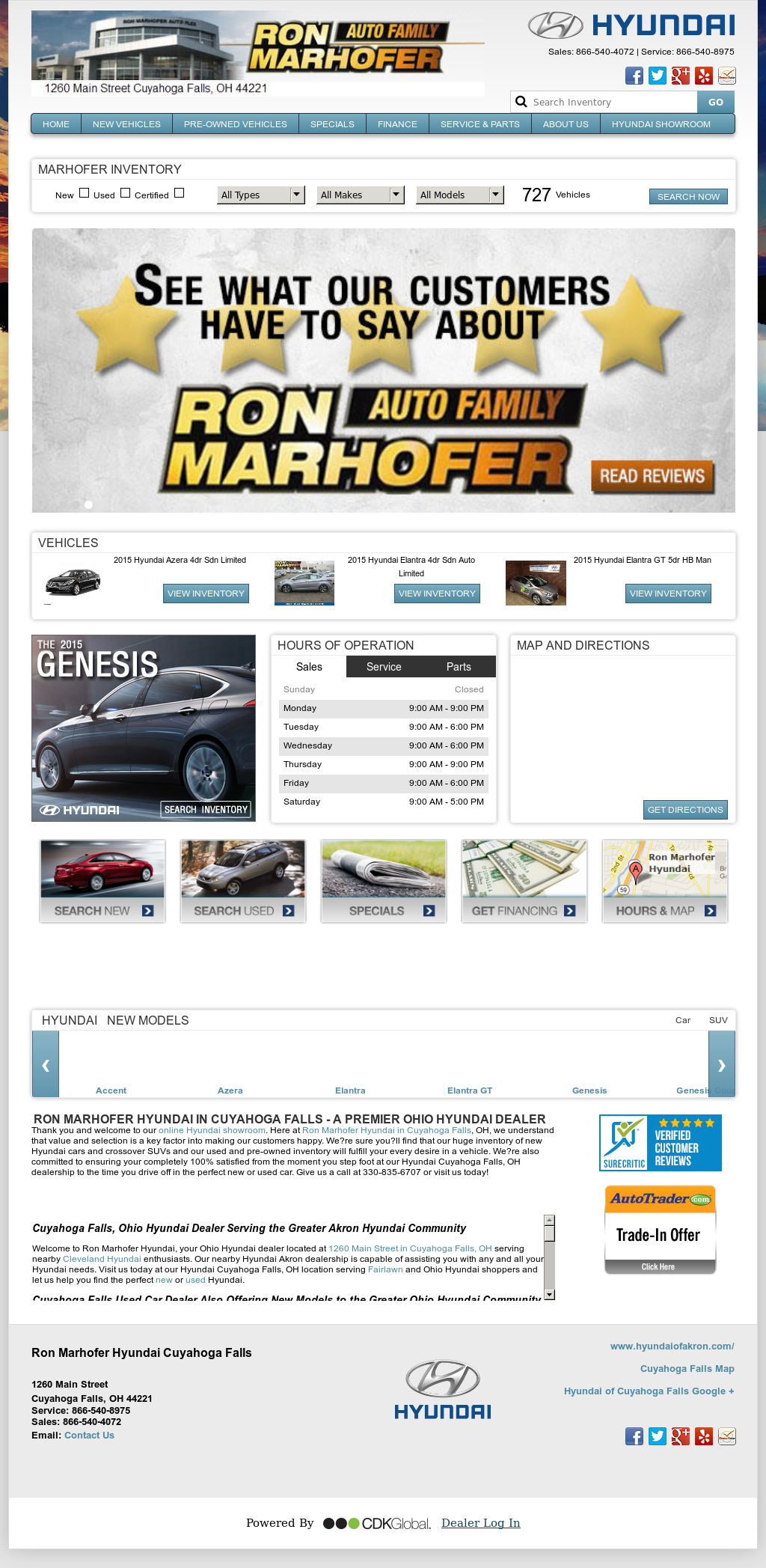 Ron Marhofer Hyundai Of Cuyahoga Falls Competitors Revenue And