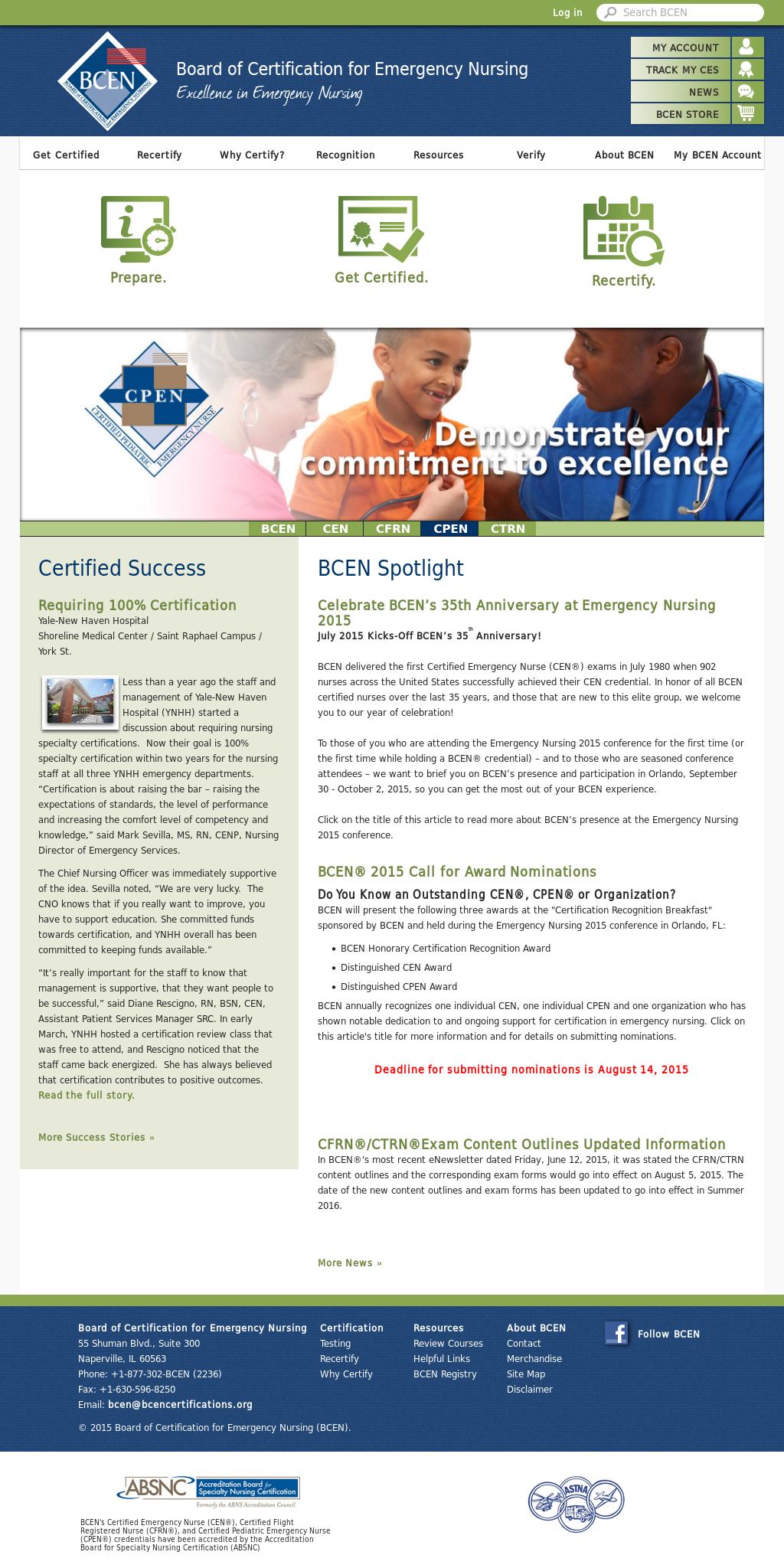 Owler Reports Bcen Emergency Nursing Certification Board Names