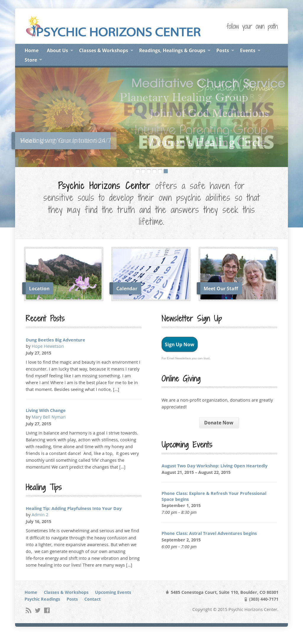 Psychic Horizons Center Competitors, Revenue and Employees