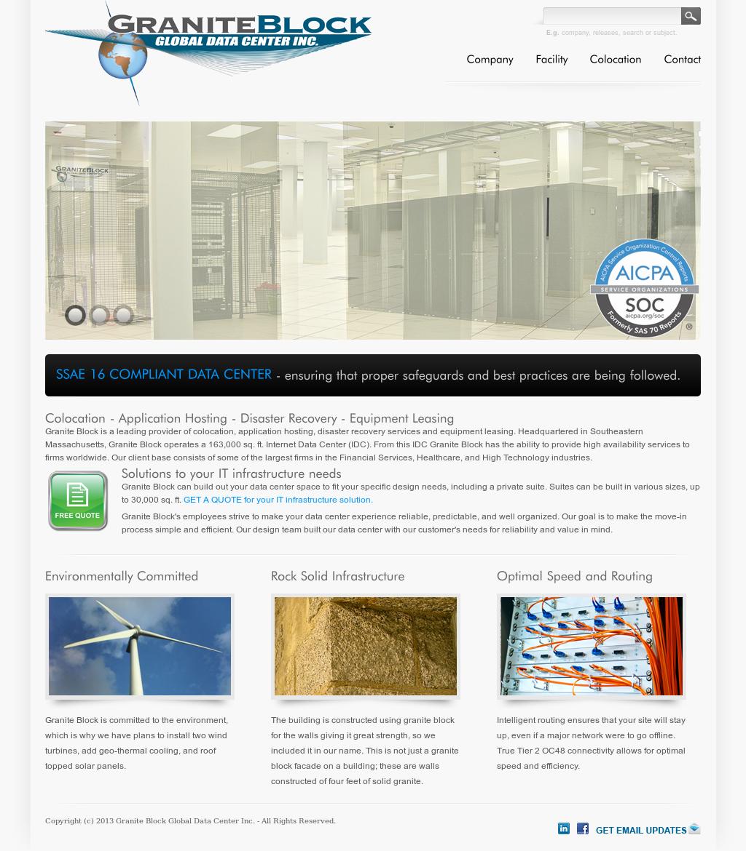 Granite Data Center : Granite block global data center competitors revenue and