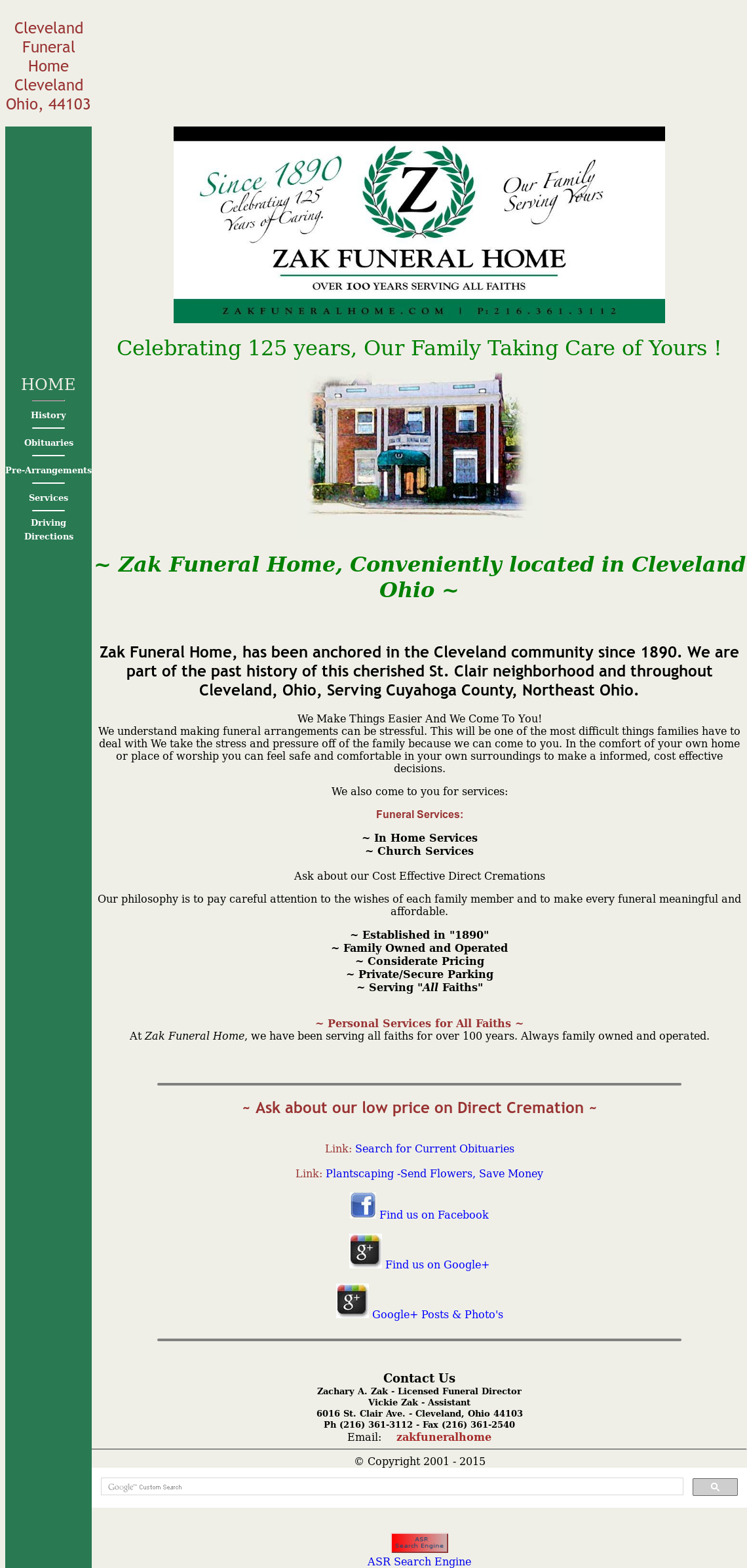 ZAK Funeral Home Competitors, Revenue and Employees - Owler