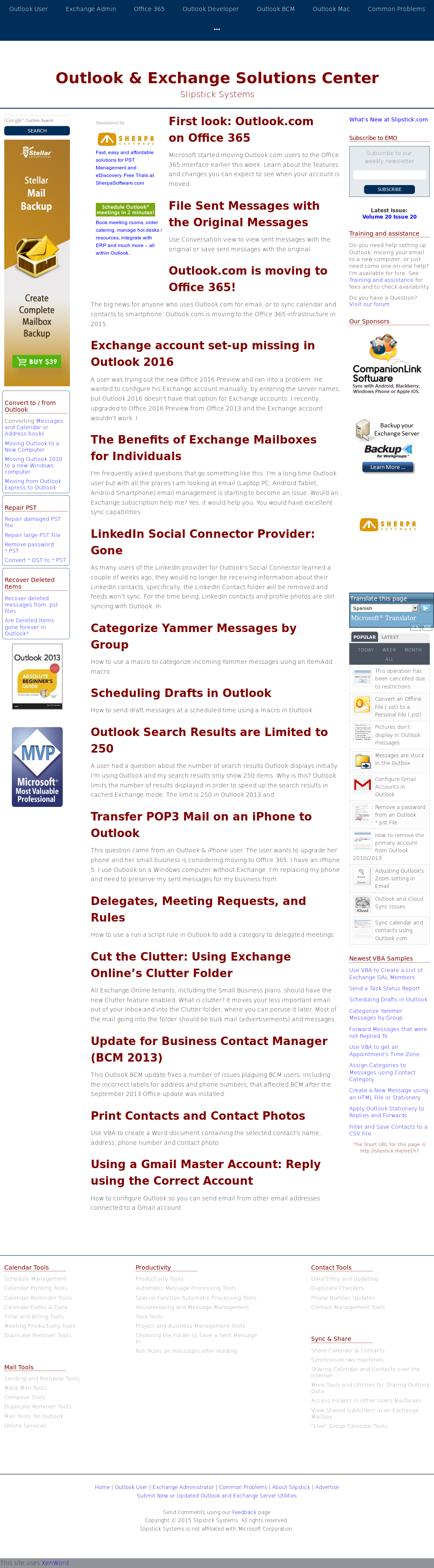 Slipstick Systems Exchange And Outlook Solutions Center Competitors