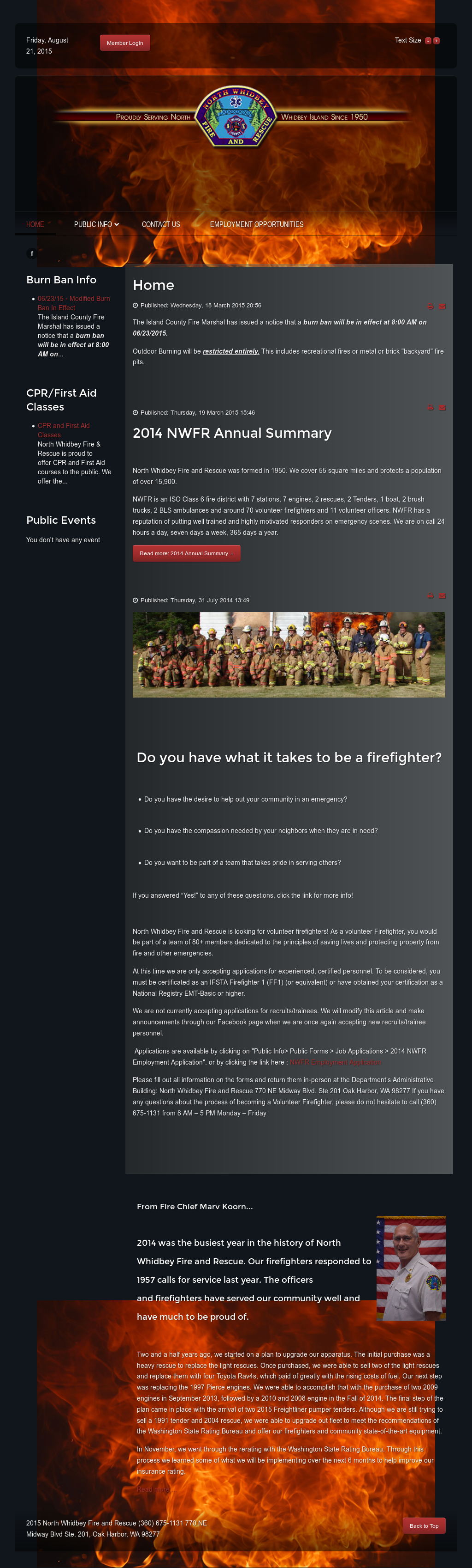 North Whidbey Fire & Rescue Competitors, Revenue and